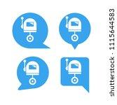 robot in blue speech bubble... | Shutterstock .eps vector #1115644583