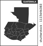 the detailed map of guatemala... | Shutterstock .eps vector #1115646383