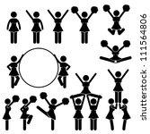 cheerleader supporter team of... | Shutterstock .eps vector #111564806