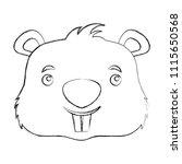cute beaver head cartoon...   Shutterstock .eps vector #1115650568