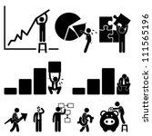 business finance chart employee ... | Shutterstock .eps vector #111565196