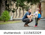 back to school.  happy father... | Shutterstock . vector #1115652329