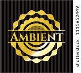ambient gold emblem | Shutterstock .eps vector #1115652449
