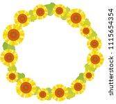 sunflower frame flower | Shutterstock .eps vector #1115654354