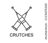 crutches line icon. element of...   Shutterstock .eps vector #1115655260