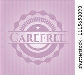 carefree pink emblem | Shutterstock .eps vector #1115658893