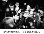 people enjoying a new years eve ... | Shutterstock . vector #1115659079