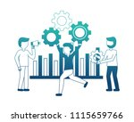 business people with gear... | Shutterstock .eps vector #1115659766
