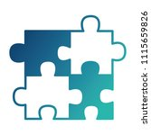 puzzle pieces jigsaw game... | Shutterstock .eps vector #1115659826