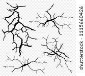 vector set of cracks in the... | Shutterstock .eps vector #1115660426