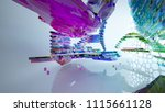 abstract white and colored... | Shutterstock . vector #1115661128