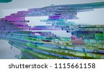 abstract white and colored... | Shutterstock . vector #1115661158