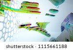 abstract white and colored... | Shutterstock . vector #1115661188