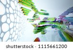 abstract white and colored... | Shutterstock . vector #1115661200