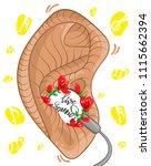 cartoon poster for music lovers....   Shutterstock .eps vector #1115662394