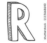 vector doodle sketch... | Shutterstock .eps vector #1115668640