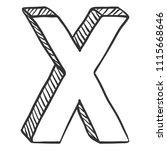 vector doodle sketch... | Shutterstock .eps vector #1115668646