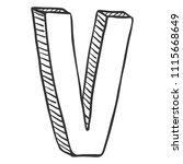 vector doodle sketch... | Shutterstock .eps vector #1115668649
