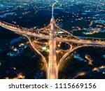aerial view of highway... | Shutterstock . vector #1115669156