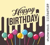 happy birthday card | Shutterstock .eps vector #1115669189