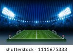football arena field with... | Shutterstock .eps vector #1115675333