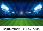 football arena field with... | Shutterstock .eps vector #1115675336