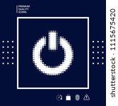 power button   halftone logo.   Shutterstock .eps vector #1115675420