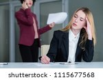 overworking and fatigue. tired... | Shutterstock . vector #1115677568