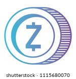 cryptocurrency zcash coin... | Shutterstock .eps vector #1115680070