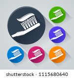 illustration of toothbrush... | Shutterstock .eps vector #1115680640