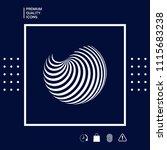 earth logo design with elegant... | Shutterstock .eps vector #1115683238