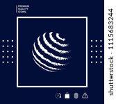 earth logo design   textured... | Shutterstock .eps vector #1115683244