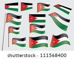 set of flags of jordan...   Shutterstock . vector #111568400