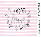 love word with handmade font... | Shutterstock .eps vector #1115685704