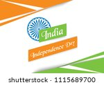 india independence day vector... | Shutterstock .eps vector #1115689700