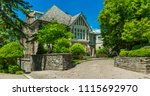 luxury house in the suburbs of... | Shutterstock . vector #1115692970