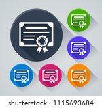 illustration of certificate...   Shutterstock .eps vector #1115693684
