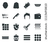 black vector icon set phone...