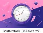 vector 3d realistic bright...   Shutterstock .eps vector #1115695799