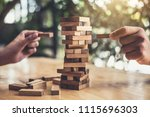 hands of executive cooperation... | Shutterstock . vector #1115696303