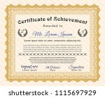 orange classic certificate... | Shutterstock .eps vector #1115697929