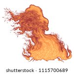 flame. hand drawn engraving.... | Shutterstock .eps vector #1115700689