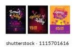 summer beach party design set.... | Shutterstock .eps vector #1115701616