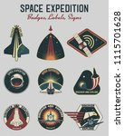 space expeditions astronaut... | Shutterstock .eps vector #1115701628