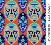 seamless pattern. indian... | Shutterstock .eps vector #1115705234