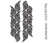 thai motif by hand drawn sketch ... | Shutterstock .eps vector #1115707796