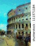 art background with europens... | Shutterstock . vector #111571184
