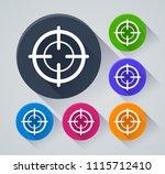 illustration of target circle...   Shutterstock .eps vector #1115712410