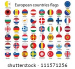 set of round buttons with flags ... | Shutterstock . vector #111571256