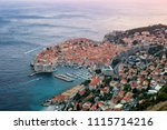 dubrovnik old town on coast of... | Shutterstock . vector #1115714216
